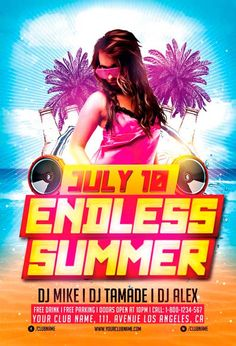 Endless Summer Party Flyer Template - http://freepsdflyer.com/endless-summer-party-flyer-template/ Enjoy downloading the Endless Summer Party Flyer Template created by Awesomeflyer!   #Beach, #Club, #Dance, #EDM, #Electro, #Future, #Hot, #Music, #Nightclub, #Party, #Pool, #Sand, #Summer, #Techno, #Trance