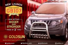 #New_Launch!!! Stylish #Frontbumper for #Mahindra_XUV500 Revamp its style & safety with our next generation #Automobile #Accessories Model : GB107 (MADE OF 3inch PIPE) Car: #Mahindra_XUV500  (Also available for all SUV's & MUV's) Enquiry: +91 93444 49111 Visit www.goldsun.in for your car accessories. #Car #Roofracks #accessory #new_launch   #compact_suv #goldsun