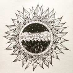 Mandala Flower by iolarosedesign on Etsy