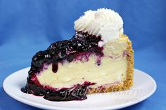 White chocolate blueberry cheesecake is another perfect pairing (or rather trio) of flavors. Tart blueberry compote piled atop white chocolate cheesecake