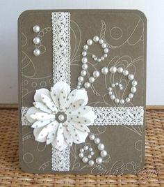 """Résultat de recherche d'images pour """"handmade card with lace"""""""