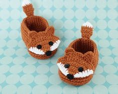 The Best Crochet Shoes For Kids - Diy Crafts - Marecipe Crochet Amigurumi, Crochet Fox, Booties Crochet, Crochet Slippers, Cute Crochet, Baby Booties, Crochet Baby Clothes, Crochet Baby Shoes, Newborn Crochet