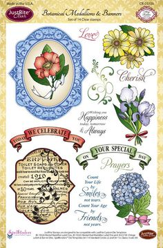 Botanical Medallions & Banners