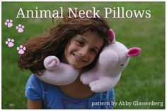 Animal Neck Pillows PDF Sewing Pattern - Easy to Sew Gift for a Tween or Teen.  via Etsy.