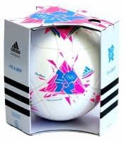 The Adidas Albert. The official match ball for football at the London 2012 Olympics.