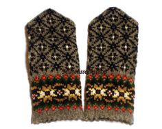 Hand knitted wool mittens-warm and stylish, great and colorful accessory in cold weather! Wonderful gift-mittens for your loved ones!   Mittens size :  S-big child or small female size M-medium size women L-large womens or mens size small XL- large men size XXL--very large size men Wash mittens recommended by hand, using detergents designed for washing wool.  Individual desires for a specific items, please ,write me a letter!   Shipping time to USA, Canada and Australia usually is 10-14…