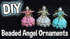 beaded christmas angels - YouTube