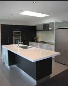 Charcoal & white kitchen