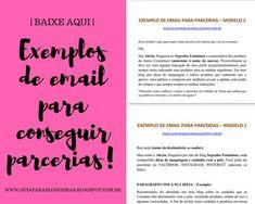 Exemplos de mensagem para escrever no email e conseguir parceria para blog.