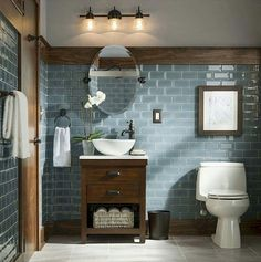 Cool 26 Rustic Bathroom Design Ideas