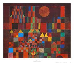 Castle and Sun Kunstdruk by Paul Klee