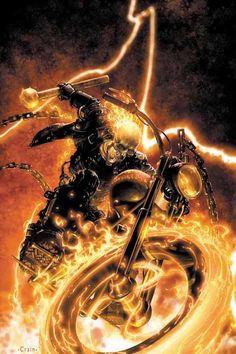 Ghost Rider (Johnny Blaze) ~ art by Clayton Crain Marvel Universe, Marvel Comics Art, Marvel Dc Comics, Marvel Heroes, Marvel Comic Character, Comic Book Characters, Marvel Characters, Comic Books Art, Comics