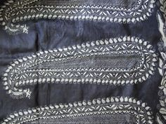 Kantha black and white embroidery