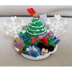 Disney Christmas Tree Duffy Bear Mickey Mouse Ears Hat Ornament Limited Edition NEW