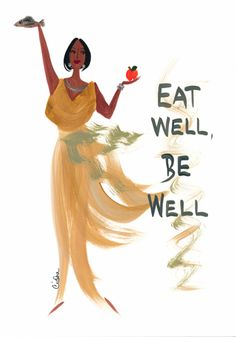 NEW Inspirational Magnets! Eat Well, Be Well Magnet  Let's Get Healthy!!!
