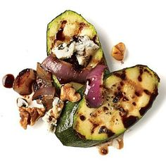 Walnut and Gorgonzola Zucchini | CookingLight.com