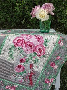 Romantic projects made with Billet-Doux by Verna Mosquera for Free Spirit Fabrics