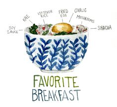 Fried Rice Breakfast Bowl: via Don't Eat the Paintings