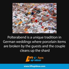 Watch at: http://www.liftupideas.com/fact-german-wedding-tradition-polterabend-guests-break-things/
