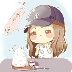 Jessica and Ice cream fanart by MILK #Jessica #GG