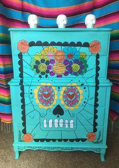 Dia De Los Muertos sugar skull Day of the dead by shabbyloco