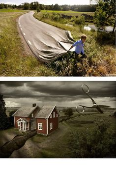 Erik Johansson photography - innovative thinking.  These are the exact 2 I wants!