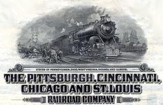 Pittsburgh, Cincinnati, Chicago and St. Louis Railway.  1917-1956.