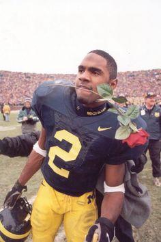 Charles Woodson one of Michigan best players Michigan Wolverines Football, Michigan Ohio, Michigan Athletics, Michigan Go Blue, Oakland Raiders Football, University Of Michigan, Charles Woodson, Detroit Sports, American Football