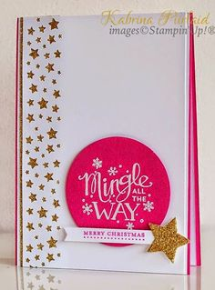 Mingle all the way in pink  By Kabrina Piirlaid | INKspired Artists Blog Hop - Sketch 6 | Stampin'Up!