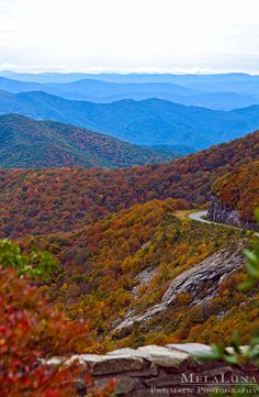 Fall Foliage In The Mountains - Blue Ridge Parkway, North Carolina (I love that this is where I call home!!)