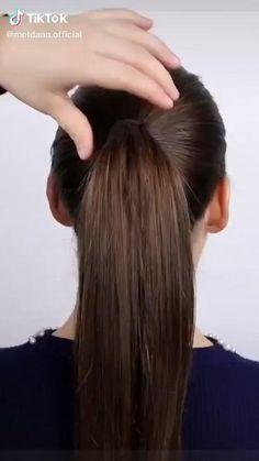 Hairdo For Long Hair, Bun Hairstyles For Long Hair, Front Hair Styles, Medium Hair Styles, Hair Style Vedio, Braided Bun Hairstyles, Braided Chignon, Braided Buns, Hair Tutorials For Medium Hair