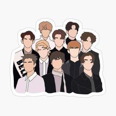 Kpop Stickers, Korean Stickers, Printable Stickers, Cute Stickers, K Pop, Nct Logo, Cover Wattpad, Kpop Logos, Boarder Designs