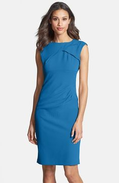 Adrianna Papell Pleated Crepe Dress | Nordstrom