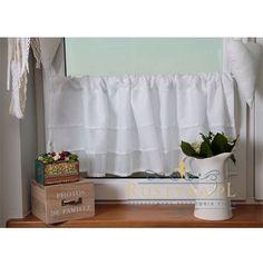Zazdrostka z etaminy falbany Valance Curtains, Shabby Chic, Shower, Prints, Etsy, Home Decor, Rain Shower Heads, Decoration Home, Room Decor