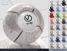 Vray Paint and Vray Plaster Materials 3D Модель .max .c4d .obj .3ds .fbx .lwo .stl @3DExport.com by ARHIGREGDESIGN