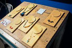 Amazing wooden jewelry display. (Aesthetic Movement showroom).