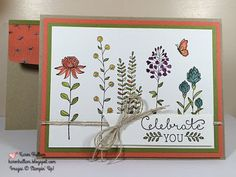 Karen's Stampin' Habit!: New Catalogs Today! and Flowering Fields Card