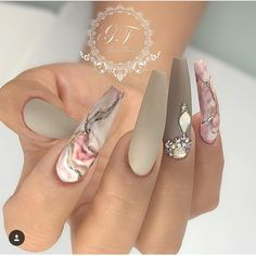 Glamorous Acrylic Matte And Stiletto Nails Design - Hairstyles Marble Nail Designs, Marble Nail Art, Acrylic Nail Designs, Nail Art Designs, Nails Design, Unique Nail Designs, Pink Marble, Long Nail Designs, Fabulous Nails