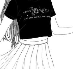 girl, outline, and grunge image Tumblr Outline, Outline Art, Outline Drawings, Cute Drawings, Tumblr Girl Drawing, Tumblr Drawings, Tumblr Hipster, Black And White Drawing, Black White