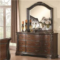 Maddison Drawer Dresser With Mirror By Coaster
