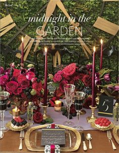 Rich, berry-hued tablescape for The Knot (Winter 2014).  Styling by Strawberry Milk Events & Styling, Florals by David Beahm Design.