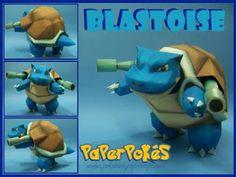 Paperpokés- Pokémon Papercrafts: BLASTOISE