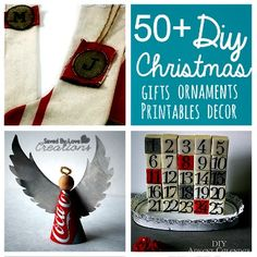 Over 50 of the Best DIY Christmas Decor and Gifts You Can Make (directions & tutorials)