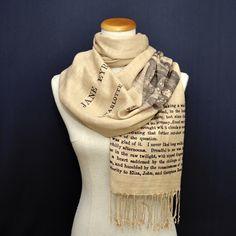 Jane Eyre by Charlotte Brontë  Scarf/Shawl by UniversalZone on Etsy https://www.etsy.com/listing/401066799/jane-eyre-by-charlotte-bronte-scarfshawl