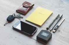 Peugeot Partner key with house keys Noise Goods leather wallet with cards and cash Fabriano Goffrata notebook Pilot Lettering Pen 30 Bic Silver pen Olfa Sac-1 knife with cheap blades Stanley Intermatic measuring tape Wiko Cink Slim phone  Product Designer in Leiria, Portugal  [[MORE]]