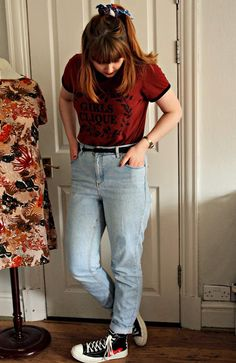 MOM Jeans Jeans - Topshop Top - Monki Shoes - CDG x Converse Headscarf - Monki These are my oldest pair of jeans which I find quite peculiar because they are definitely less than 3 years old there's a hole in the pocket and I'm not even that keen on them but something is making me keep them. I think it is possibly the ease of being able to throw anything with them to make an okay outfit or the fact they're quite comfy but I do definitely have a fondness for them. My go to casual outfits are…