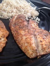 Cajun Seasoned Tilapia on MyRecipeMagic.com.  You will love this Tilapia recipe!  AMAZING! #tilapia #cajun