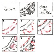 Free Zentangle How To Patterns | So, there you go, ladies (and gents?) - lace 'em if you've got 'em!