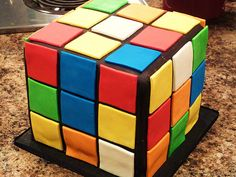 A Rubik's Cube Cake to Celebrate the Iconic Puzzle's 40th Birthday