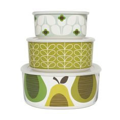 Storage Bowl Green Set Of 3, $62.40, now featured on Fab.